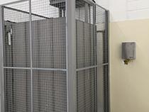 Elevador de carga com estrutura e fechamento - 15